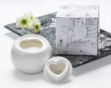 """Sweetheart"" Porcelain Sugar Bowl Favor - InCasaGifts"