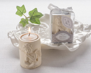 """Angel Wishes"" Cherub Tea Light Candle Holder"