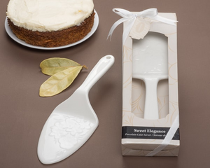 """Sweet Elegance"" Porcelain Cake Server - CLOSEOUT PRICE! - InCasaGifts"