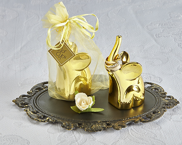 Lucky Elephant Ring Holder in Gold (4 Pack) - InCasaGifts