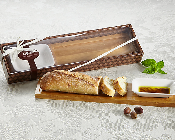 La Panetteria Bread Board with Dipping Dish - InCasaGifts