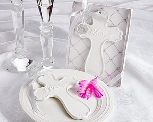 'Blessings' Elegant Porcelain Cross - CLOSEOUT PRICE! - InCasaGifts