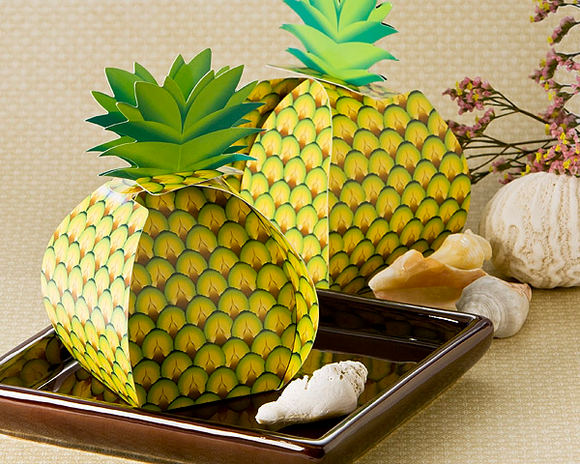 Tropical Treats Oversized Pineapple Favor Box (24 Pack) - InCasaGifts