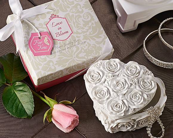 'Love in Bloom' Heart Jewelry & Trinket Box Favor - InCasaGifts
