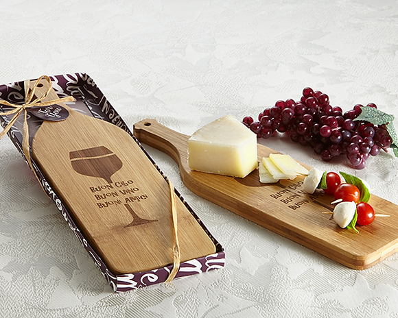 'Buon Appetito' Wine Shaped Cheese Board