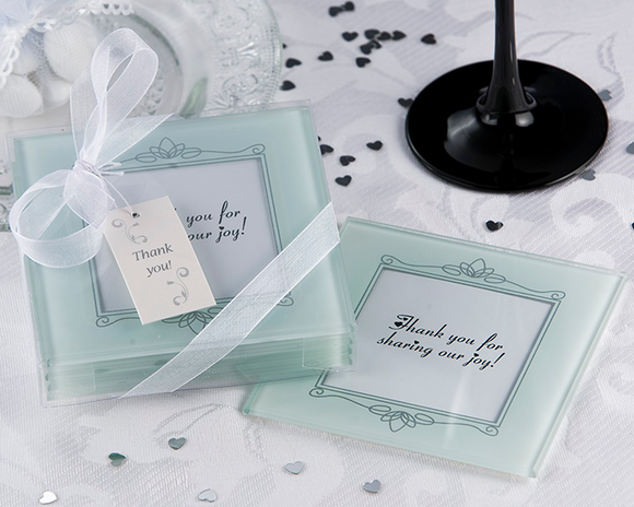 Memories Forever - Frosted Glass Photo Coaster Favor (Set of 4) - CLOSEOUT PRICE! - InCasaGifts