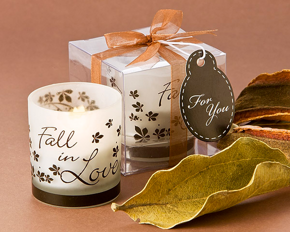 Fall in Love Tea Light Candle Holder Favor (Pack of 4) - InCasaGifts