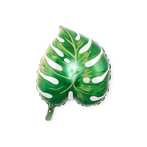 Mylar Foil Helium Party Balloon Decoration - Green Tropical Leaf