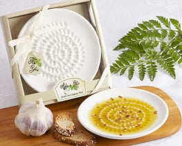 Bomboniere Favor - Olive Oil Dipping Plates - Garlic Grater Plate