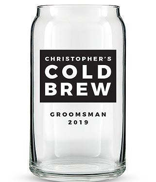 Personalized Beer Glass Groomsmen Gifts