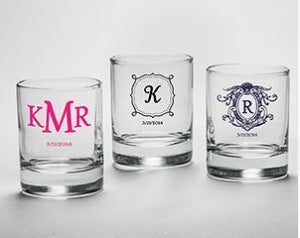 Personalized Shot Glass Wedding Favors DIY Customization