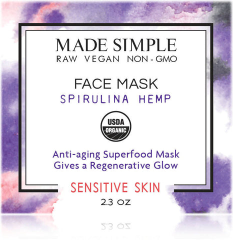 Certified Organic Spirulina Hemp Face Mask