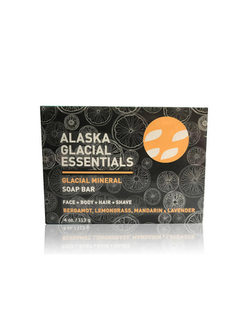 Glacial Mineral Soap Bar | Face + Body + Shampoo + Shave, 4 oz