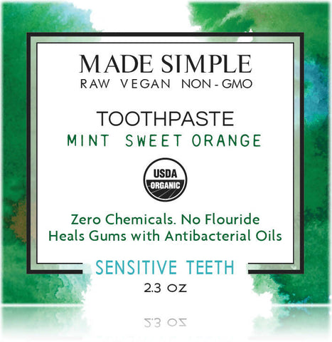 Certified Organic Mint Sweet Orange Toothpaste