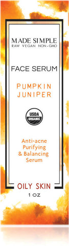 Certified Organic Pumpkin Juniper Face Serum