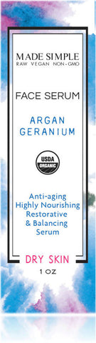 Certified Organic Argan Geranium Face Serum
