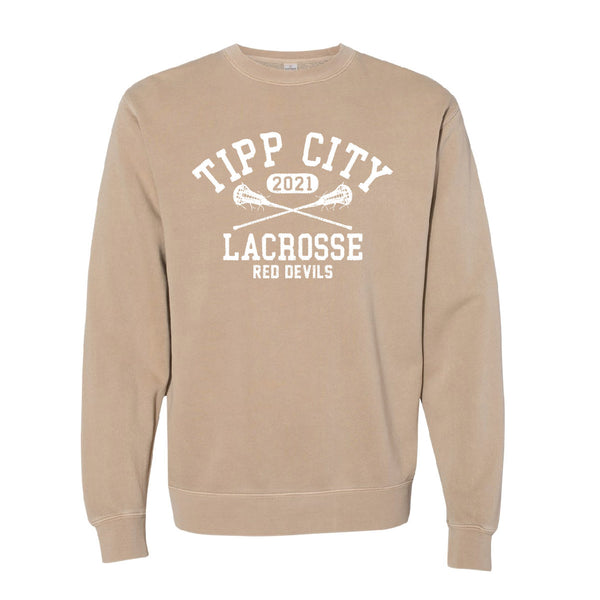 Tipp City Lacrosse Dyed Crewneck