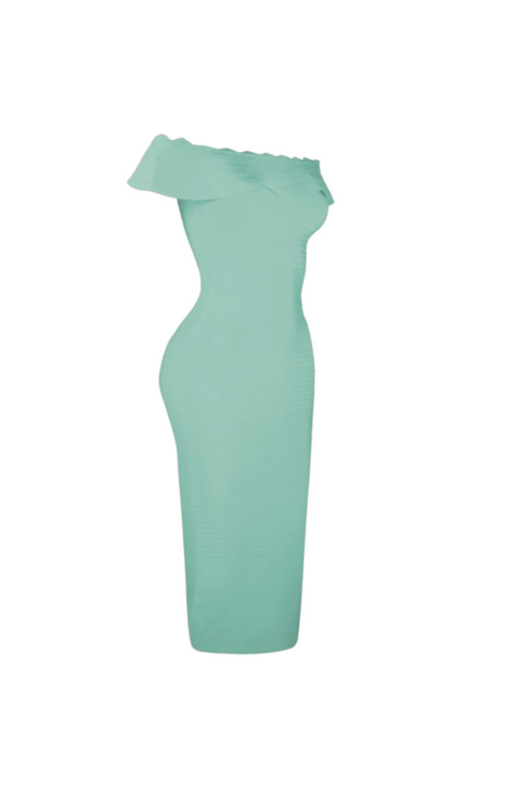 'RIVERA' OFF SHOULDER BANDAGE DRESS-MINT - TOXIC ENVY BOUTIQUE