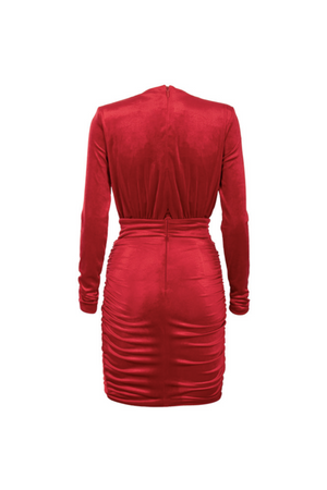 """MOISE"" LONG SLEEVE DRESS -RED - TOXIC ENVY BOUTIQUE"