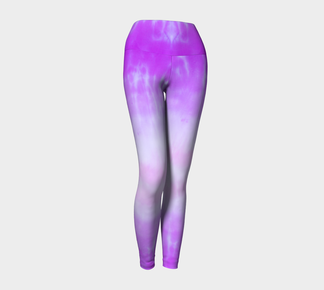 A beautiful Pink ombre tie dye print on these compression leggings
