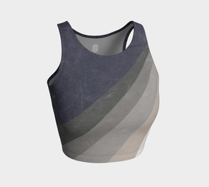 Grey color block style athletic top