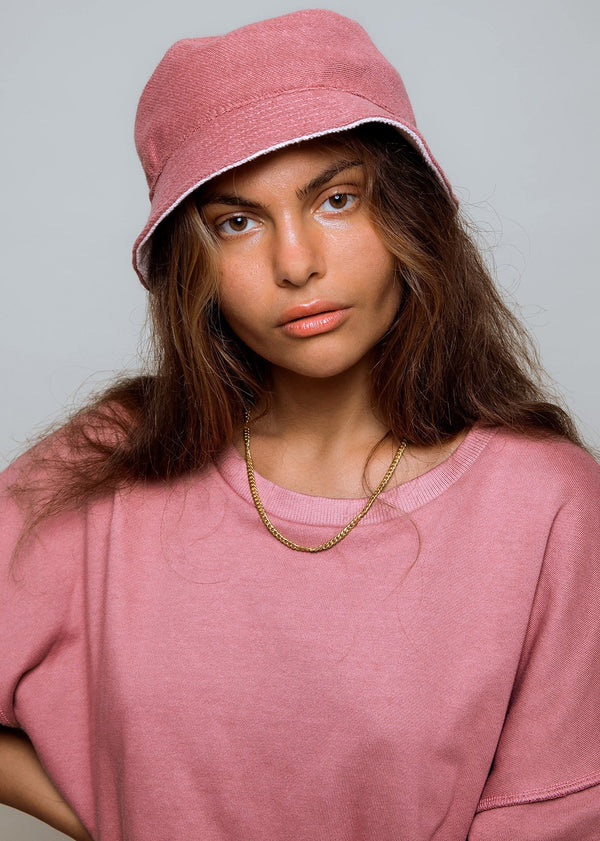 Bucket Hat - Reversible Pink / Mauve Red - Alor The Label