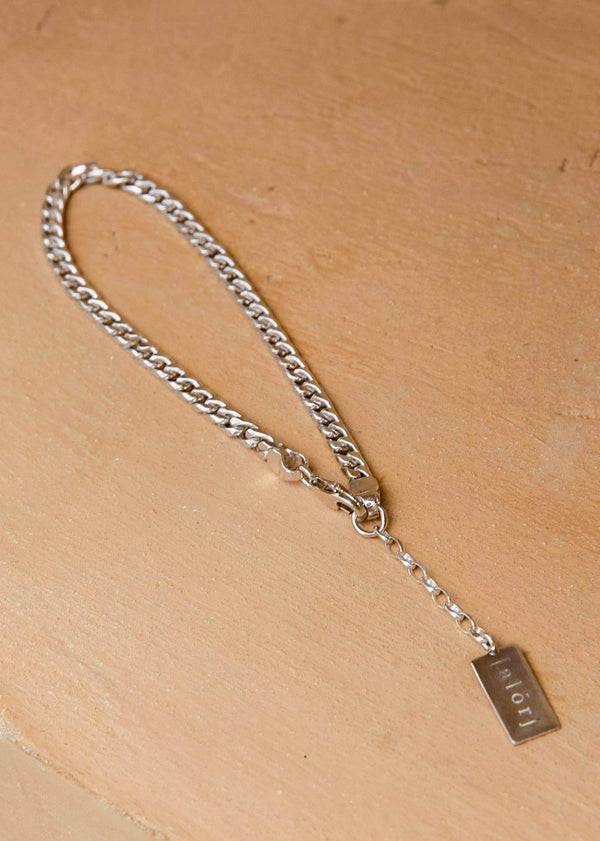 Handmade Cuban Bracelet with Alōr tag Silver - Alor The Label