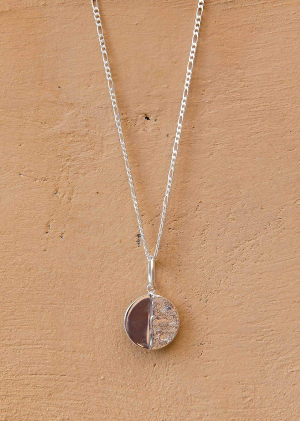 Handmade Moon Medallion. 02 Silver - Alor The Label