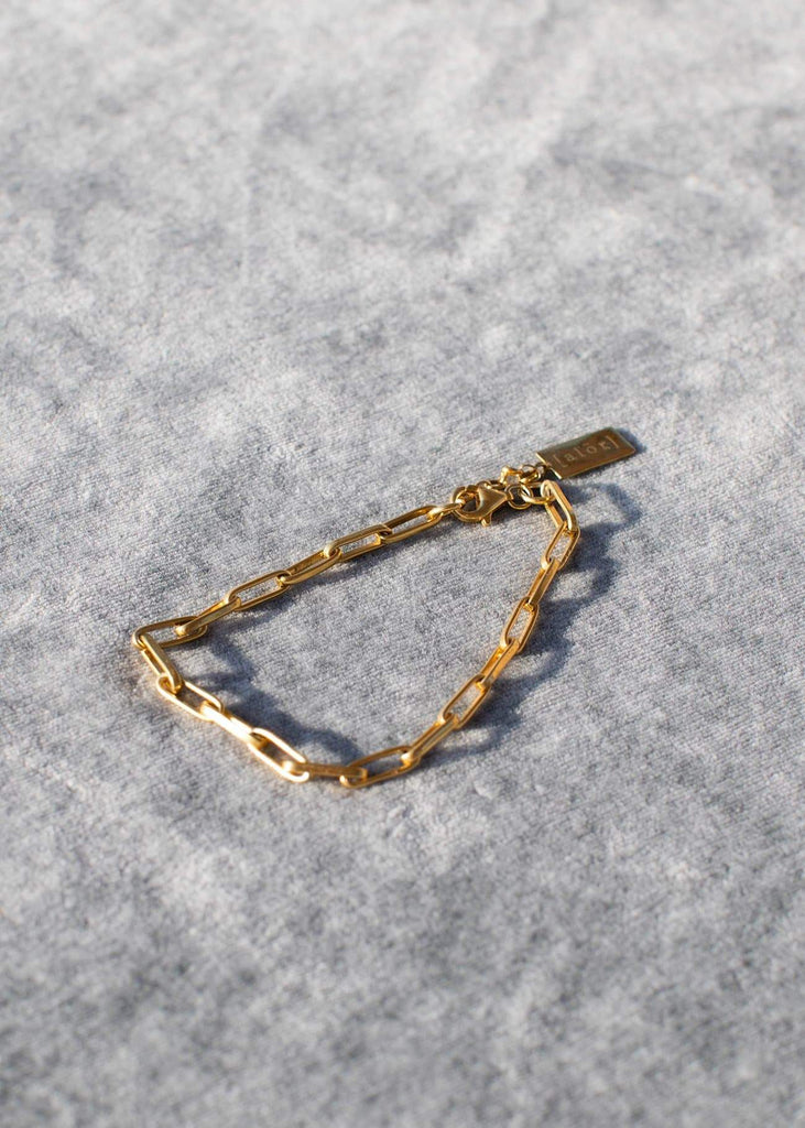 Handmade Paperclip Bracelet with Alōr tag Gold - Alor The Label
