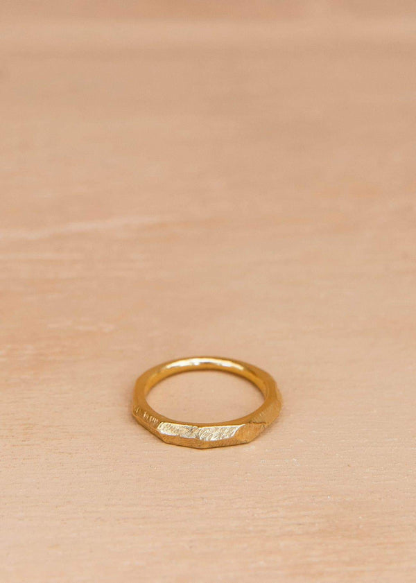 Handmade Textured Ring. 01 Gold - Alor The Label