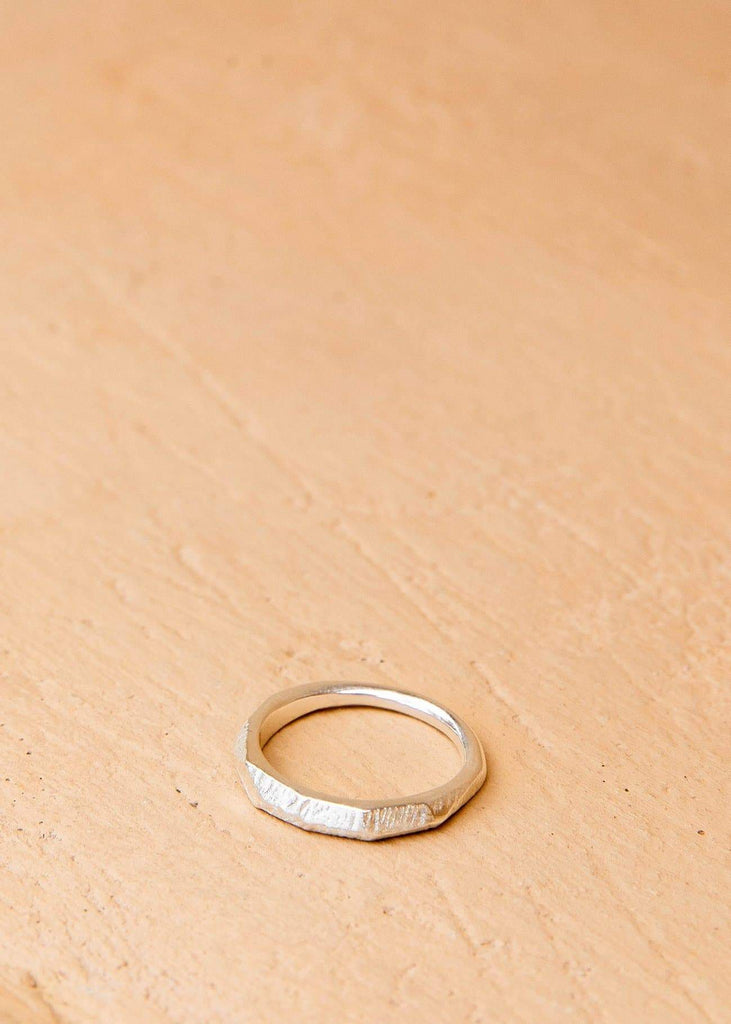 Handmade Textured Ring. 01 Silver - Alor The Label
