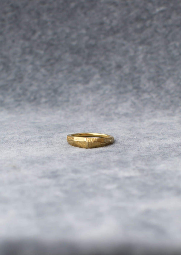 Handmade Textured Ring. 02 Gold - Alor The Label