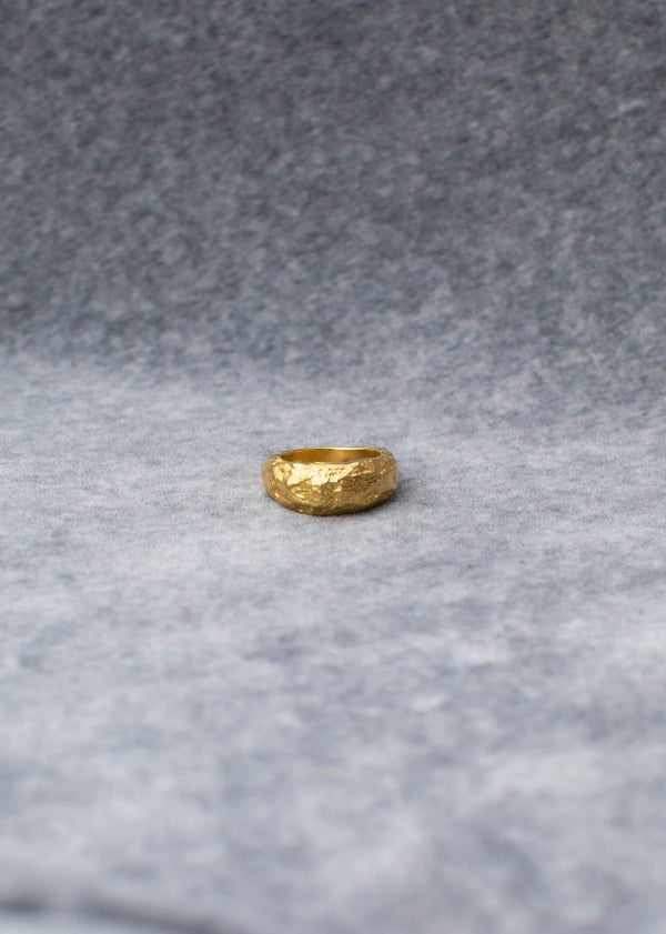 Handmade Textured Ring. 03 Gold - Alor The Label