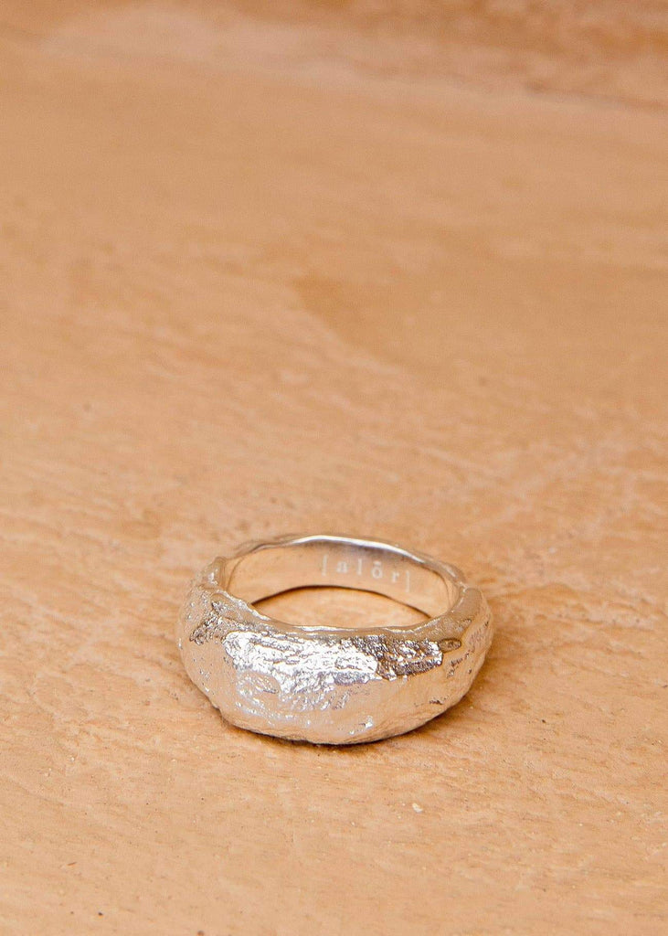 Handmade Textured Ring. 03 Silver - Alor The Label
