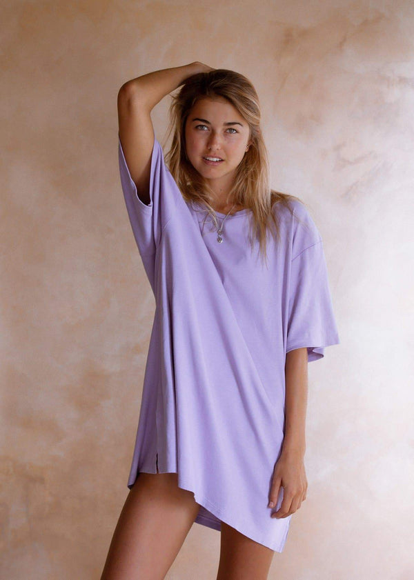 Oversized T - Lilac - Alor The Label