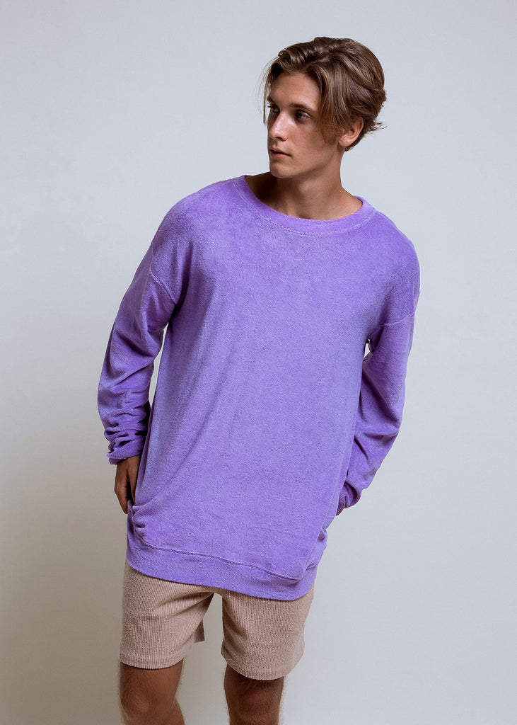Oversized Towel Sweater Lilac - Alor The Label