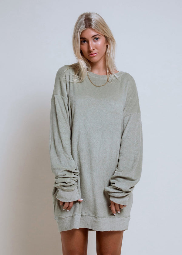 Oversized Towel Sweater Pistachio - Alor The Label