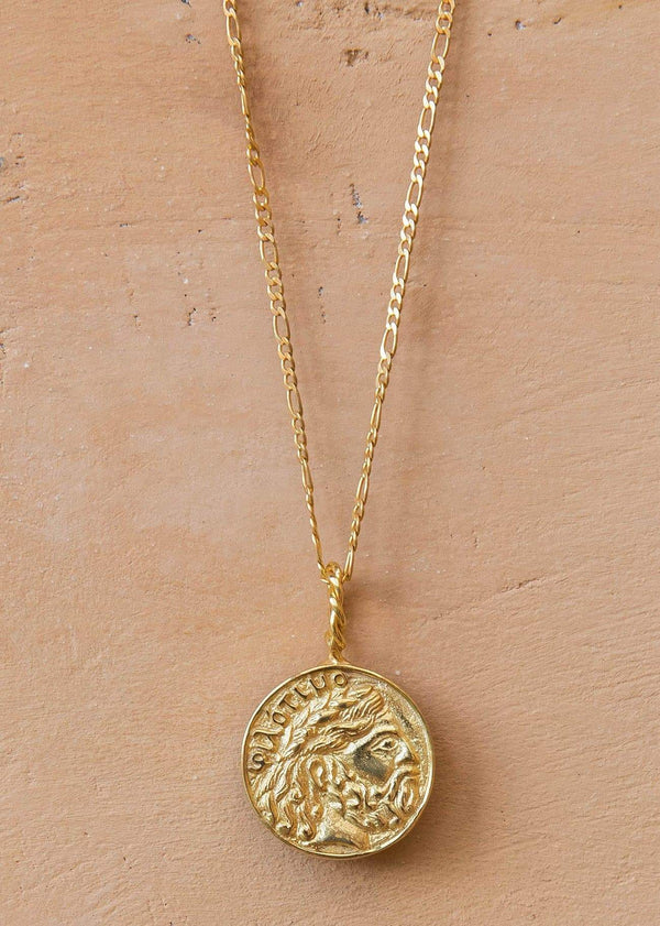 Vintage Greek Coin Medallion Gold - Alor The Label