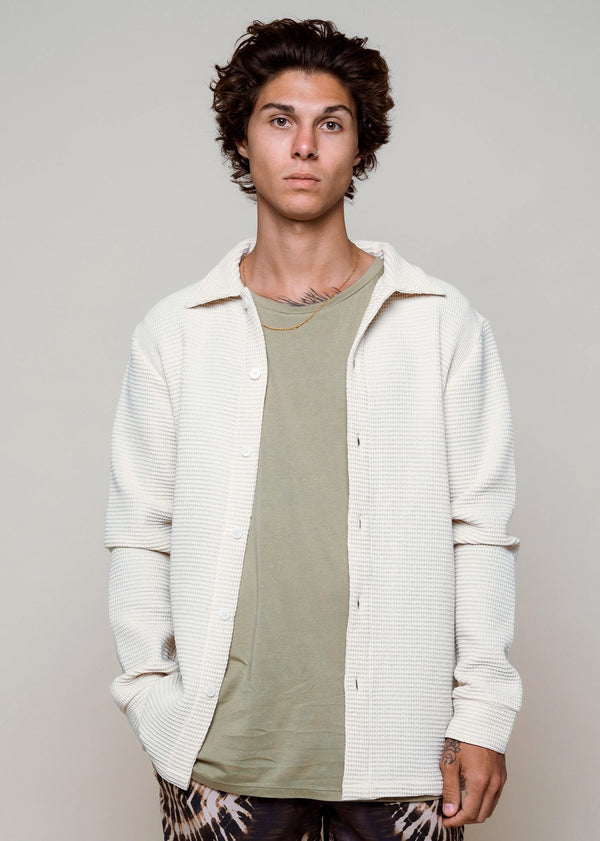 Waffle Jacket Off White - Alor The Label