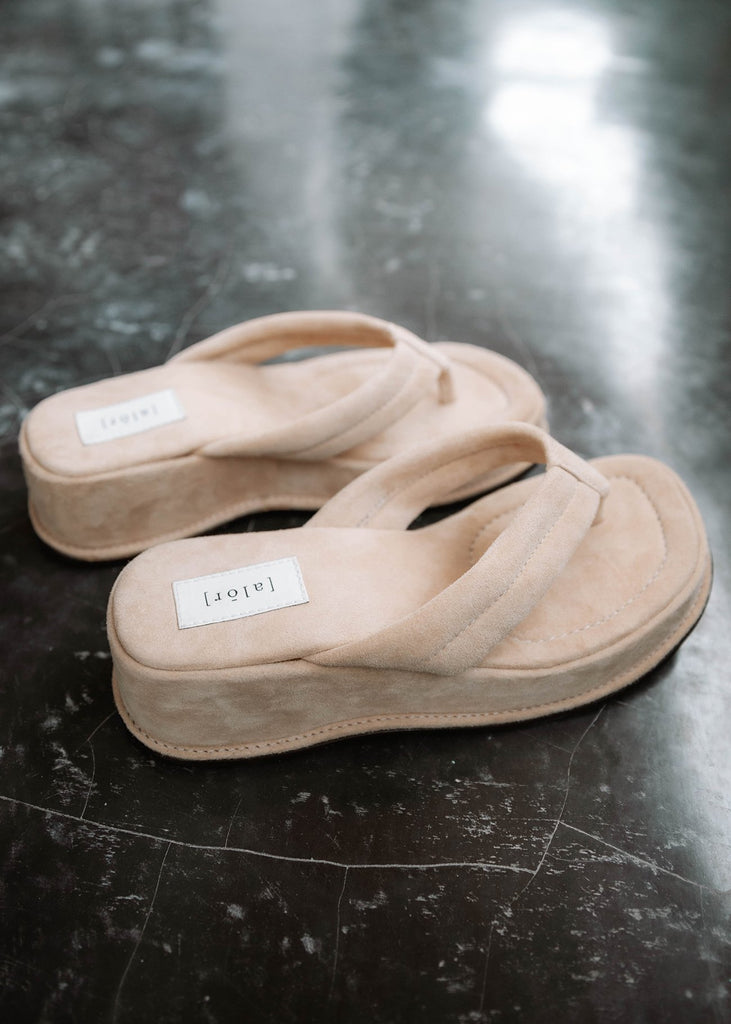 Womens Almond Platforms - Alor The Label