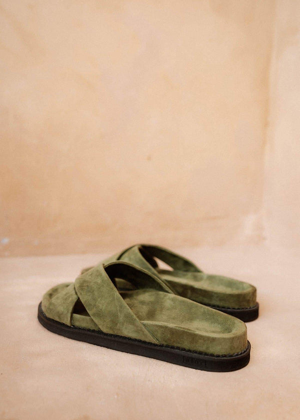 Womens Olive Sandals - Alor The Label