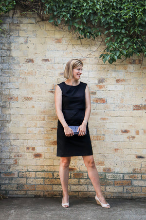 Little Black Nursing Dress