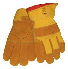 Tillman 1578 Cowhide/Canvas Winter Gloves, 1/Pair size - LARGE