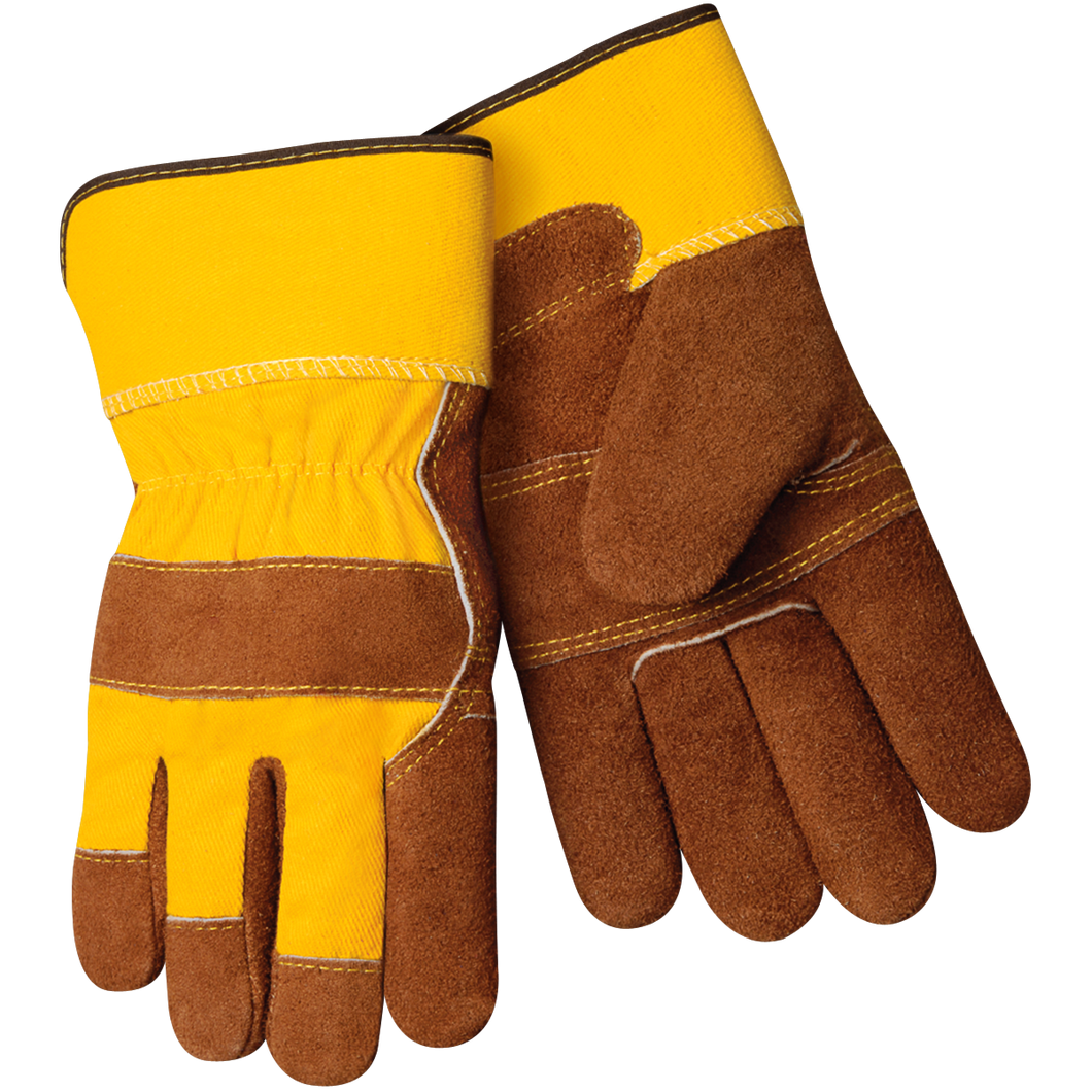 Split Cowhide Winter Gloves With Fleece Insulated Lining large