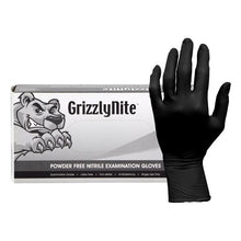 Load image into Gallery viewer, ProWorks® GrizzlyNite Black  XXL Nitrile Exam Powder Free Disposable Gloves, 5 mil (GL-N105FXXL)