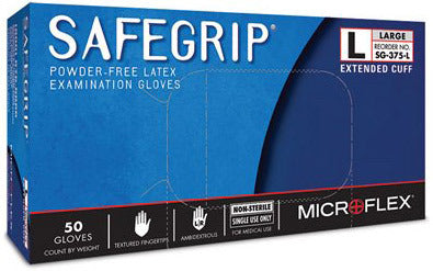 Microflex SafeGrip Latex Gloves     Size - LARGE SG-375