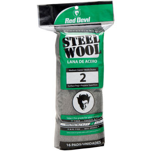 #2 Medium-Coarse Grade Steel Wool 16Ct