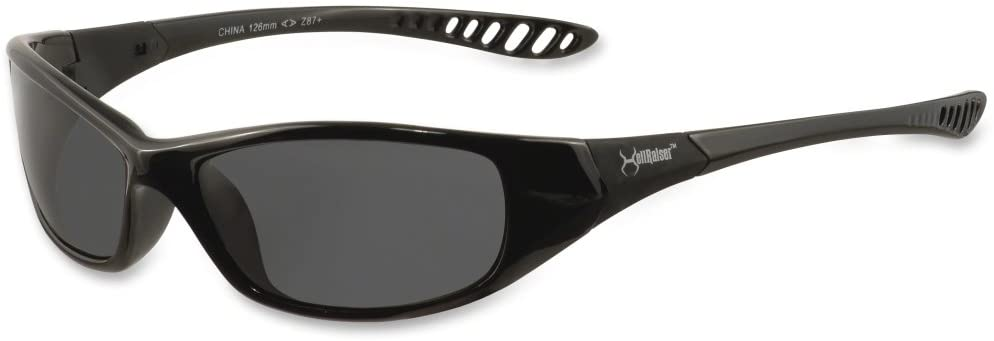 V40 HellRaiser* Scratch-Resistant Safety Glasses , Smoke Lens Color
