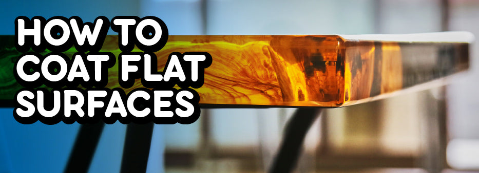 How to coat flat surfaces with epoxy