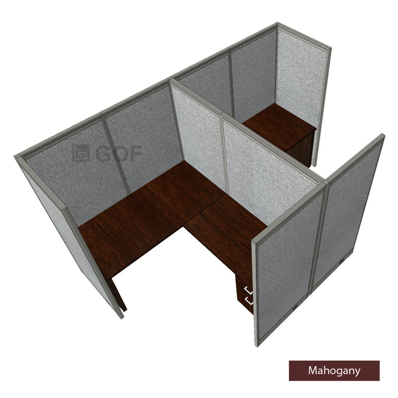 GOF Double 2 Person Workstation Cubicle (11'D x 6.5'W x 6'H) / Office Partition, Room Divider - Kainosbuy.com
